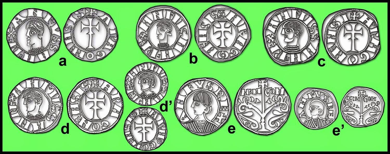 """Óbolo de Alfonso I """"El batallador"""" (Jaca, 1104-1134). Lamina+3.Conjunto+Alfonso+I"""