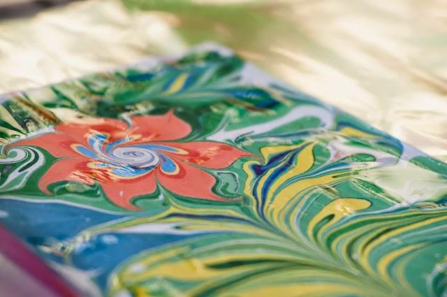 исскуство рисования на воде Эбру