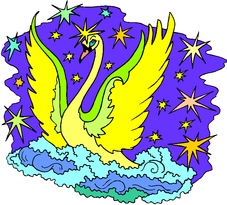 Golden Swan Free Clipart