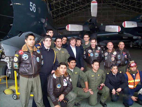 El Vicepresidente de la Nación visitó la Escuadrilla Aeronaval de Exploración