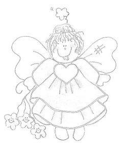 Riscos e imagens para decoupage e pintura de anjos