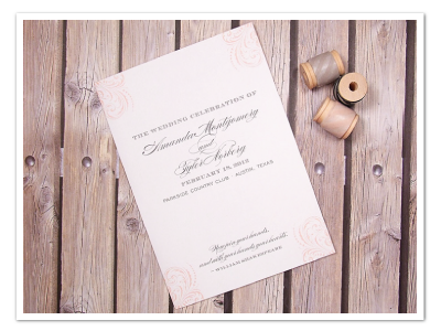 flourished printable diy wedding program design
