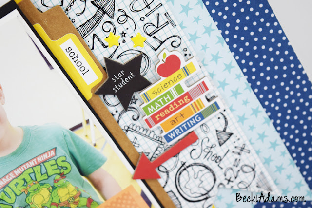 Student of the Month by Becki Adams #scrapbooking #bellablvd #papercraft #memorykeeping #BeckiAdams #processvideo