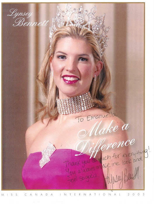 Signed picture by Miss Canada 2003 after cut and style