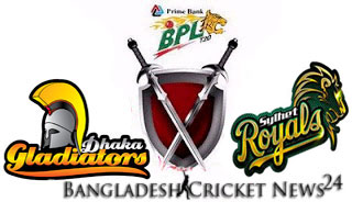 T20 Dhaka Gladiators Vs Sylhet Royals