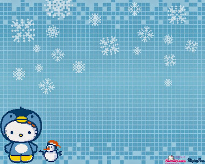 Gambar Hello Kitty Salju Wallpaper HD Vector
