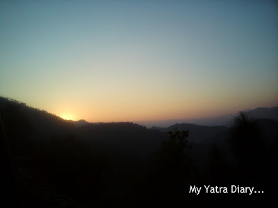 Beautiful colors of Sunset  in the Garhwal Himalayas