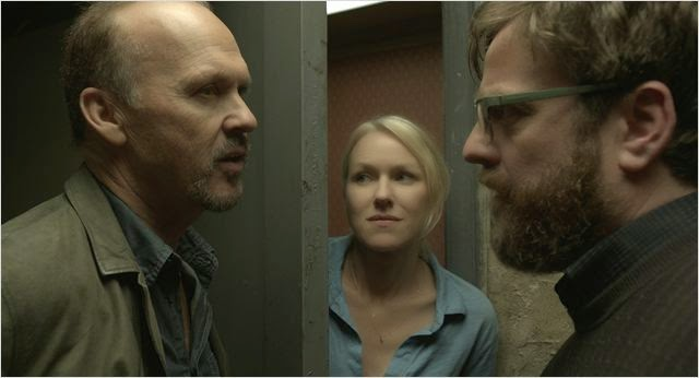 Michael Keaton , Naomi Watts y Zack Galifianakis en Birdman