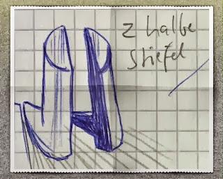 #kreativnotiz: 2 halbe Stiefel