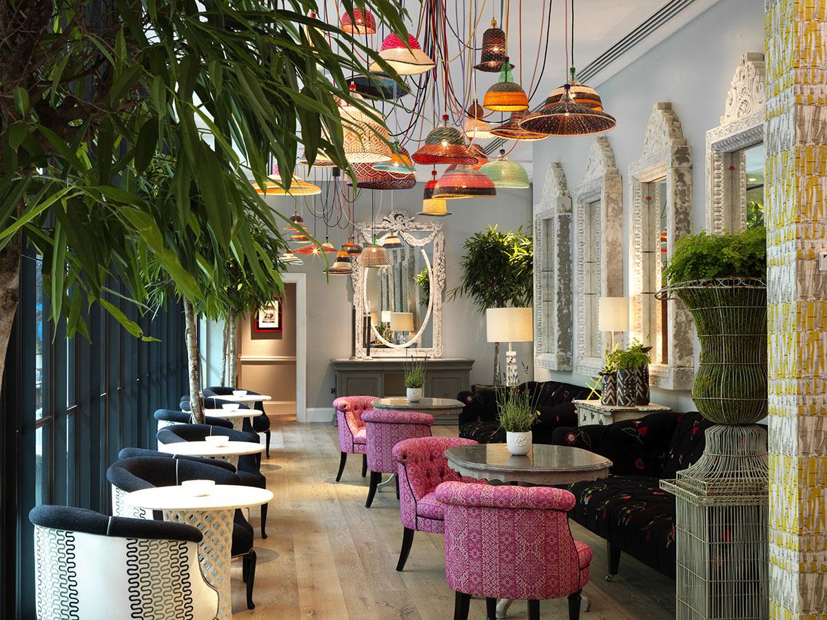 Ham Yard Bar Restaurant Interior Design By Kit Kemp