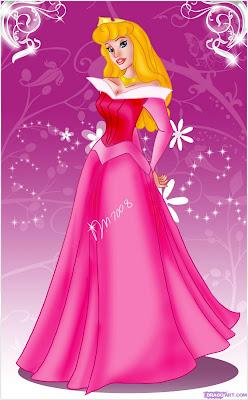 Desenhos Preto e Branco a Bela Adormecida, a princesa Aurora da disney para Colorir