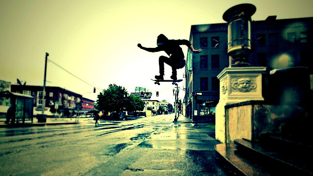 Urban Skateboard Trick HD Wallpaper