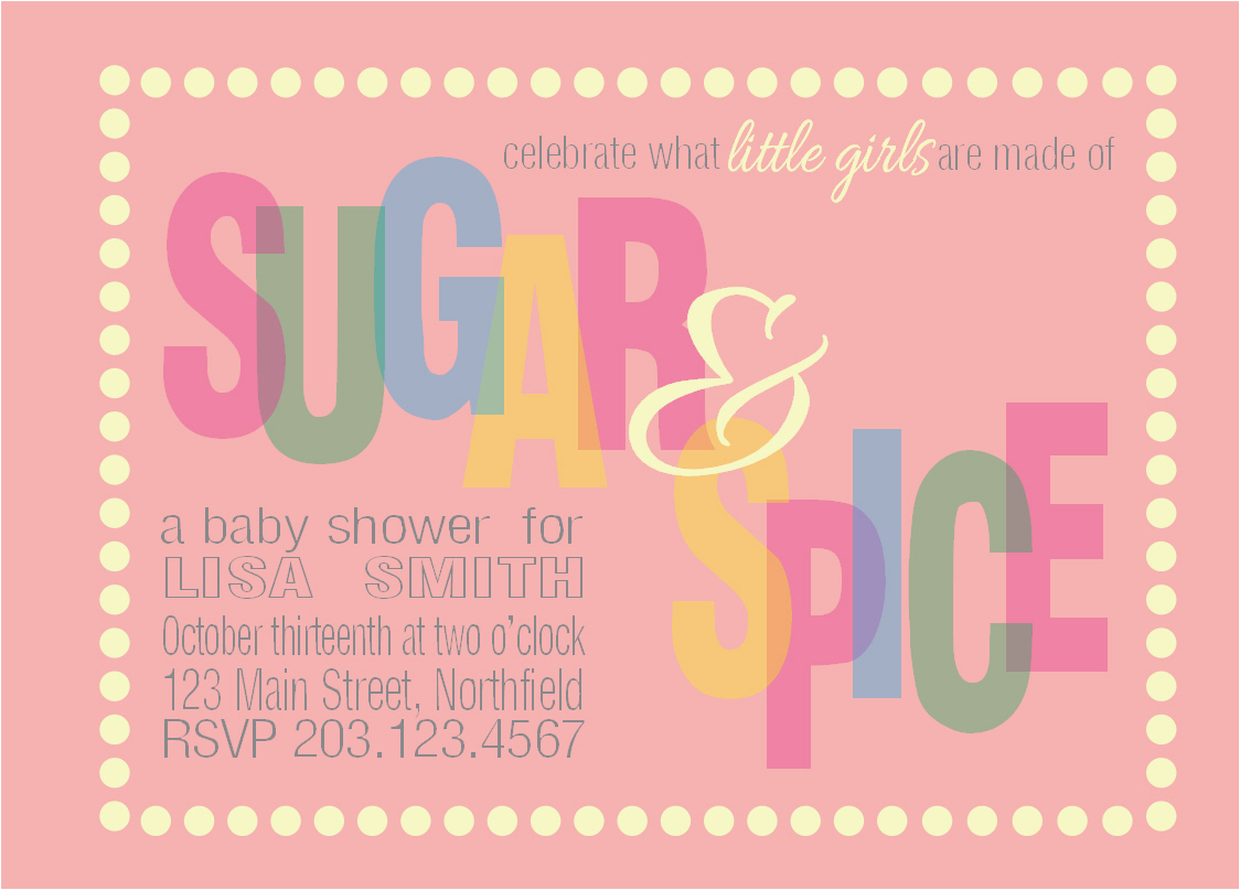 Sugar And Spice Baby Shower Invitations | wblqual.com