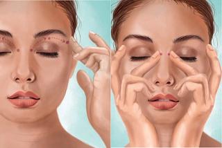 Autodrenagem facial ajuda a melhorar inchaço no rosto