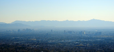 Downtown Phoenix view from Piestewa Peak