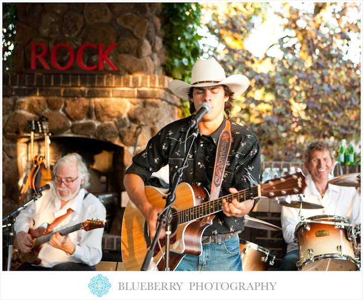 Sonoma country western rock band outdoor wedding photography
