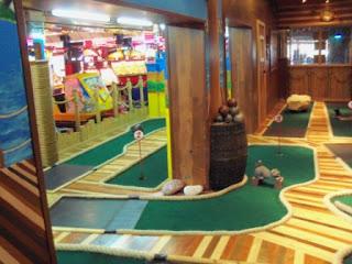 Indoor Adventure Golf at the Fairworld Amusement Arcade in Cleethorpes