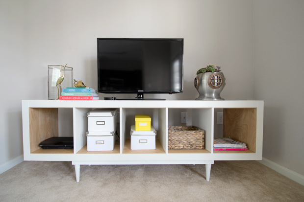 ikea expedit tv stand with birch plywood home design. Black Bedroom Furniture Sets. Home Design Ideas