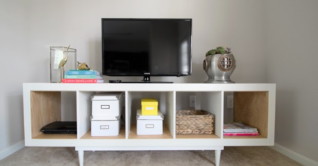 Sarah M Dorsey Designs Ikea Expedit TV Stand With Birch