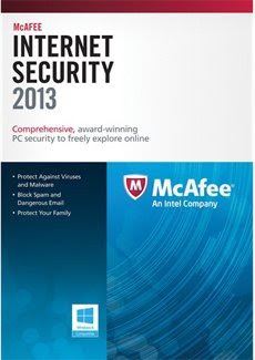 Macafee Internet Security 2013 License Key, Full Version