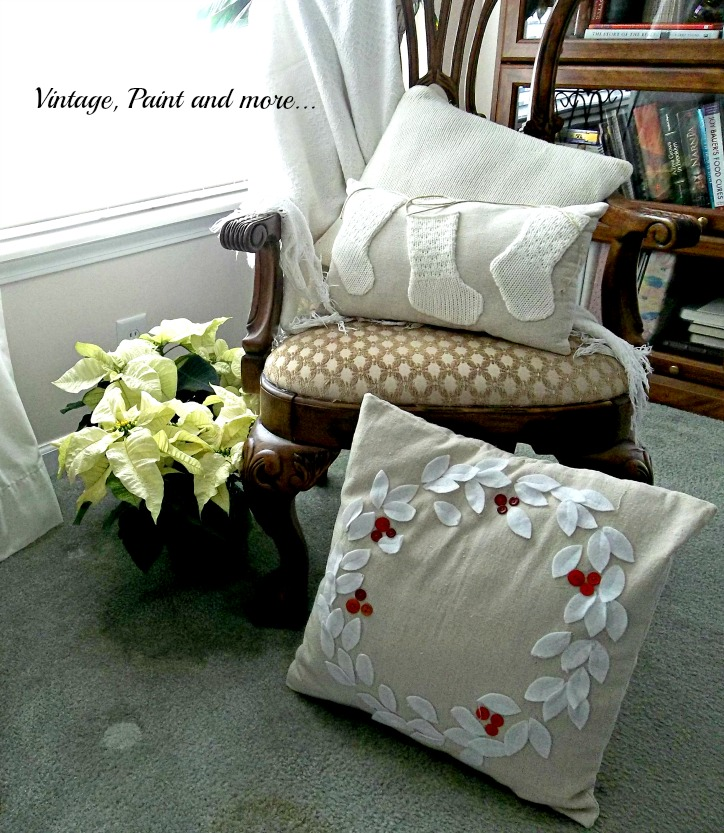 Vintage, Paint and more... diy pillows from drop cloths and old sweaters