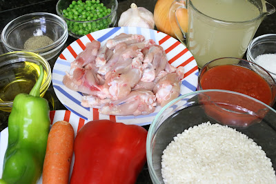 Ingredientes para alitas con arroz
