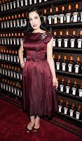Dita Von Teese posing at La Maison Cointreau Debuts red carpet