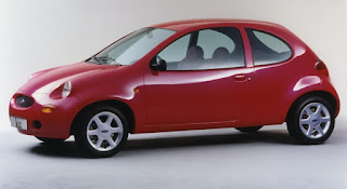 The Ford Ka Concept, very little changed between this and the production Ka