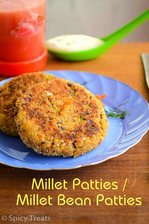 Millet Patties / Millet Rajma Patties / Millet Bean Patties