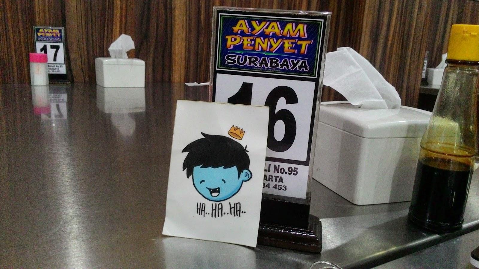 Crezno sticker at Ayam penyet surabaya, YK | anggitabay