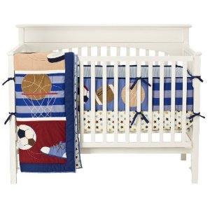 Tiddliwinks Mod Sport Crib Bedding Set