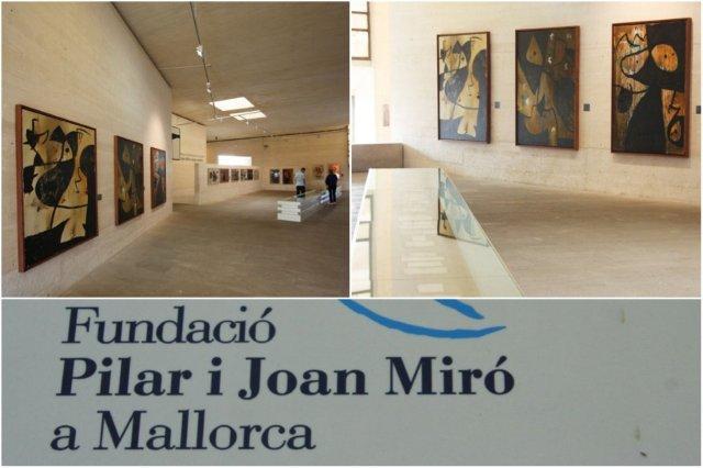 Interior de la Fundacion Pilar y Joan Miro en Mallorca