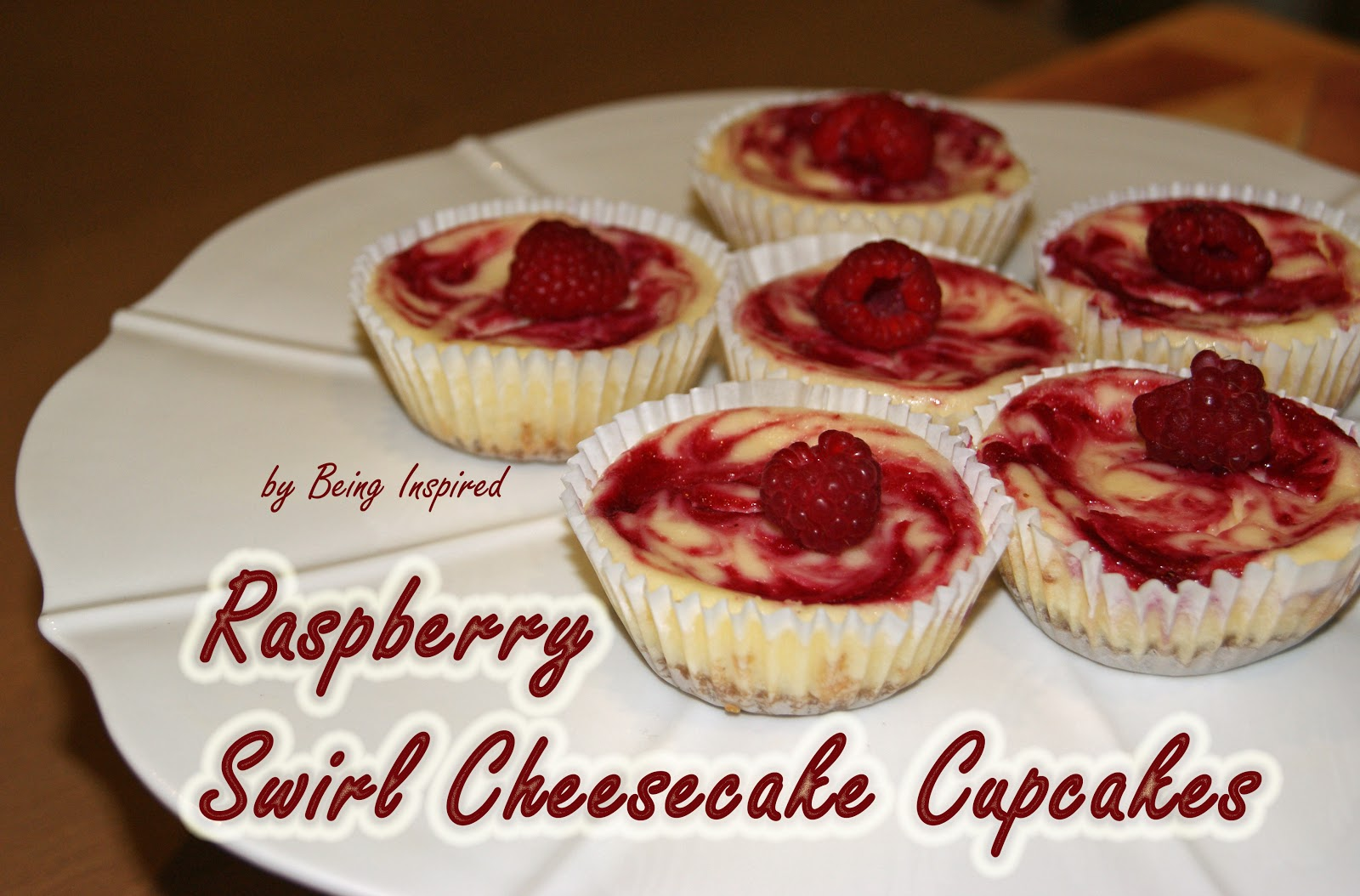 Being Inspired: Day 28 - Raspberry Swirl Cheesecake Cupcakes