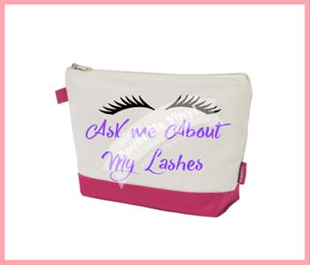 Ask Me About My Lashes Cosmetic Bag