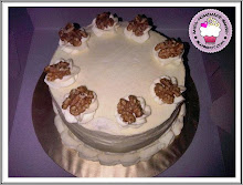 Carrot Walnut Cake with cream cheese