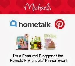 I'm a Featured Blogger at the Hometalk Michaels Pinterest Event!