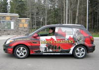 My canadian heroes car in honor of jack bouthillier