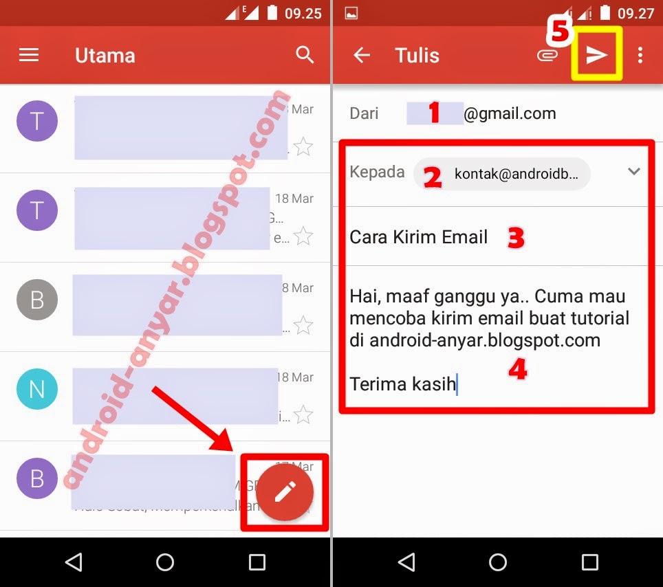 Cara Mudah Kirim Email dengan HP Android