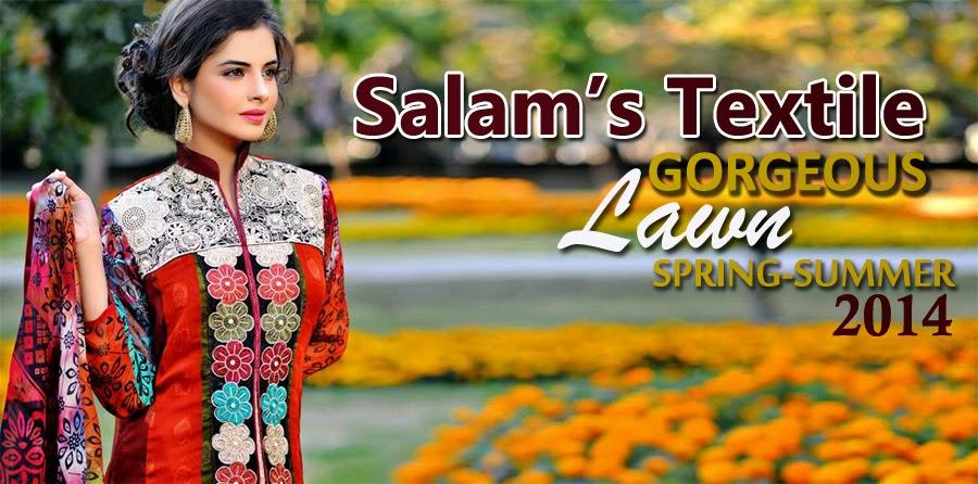 SalamsTextileSummerLawn2014 wwwfashionhuntworldblogspotcom - Salam's Textile Spring-Summer Lawn Collection 2014
