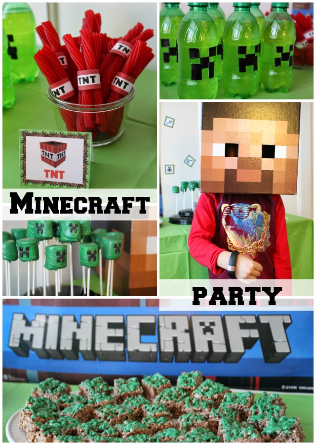 Simple Minecraft Gameband Party: Stilettos and Diapers