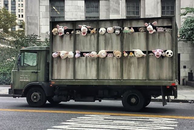 "Banksy ""Siren Of The Lambs"" Truck Installation For Better Out Than In In The Meatpacking District, New York City. 1"