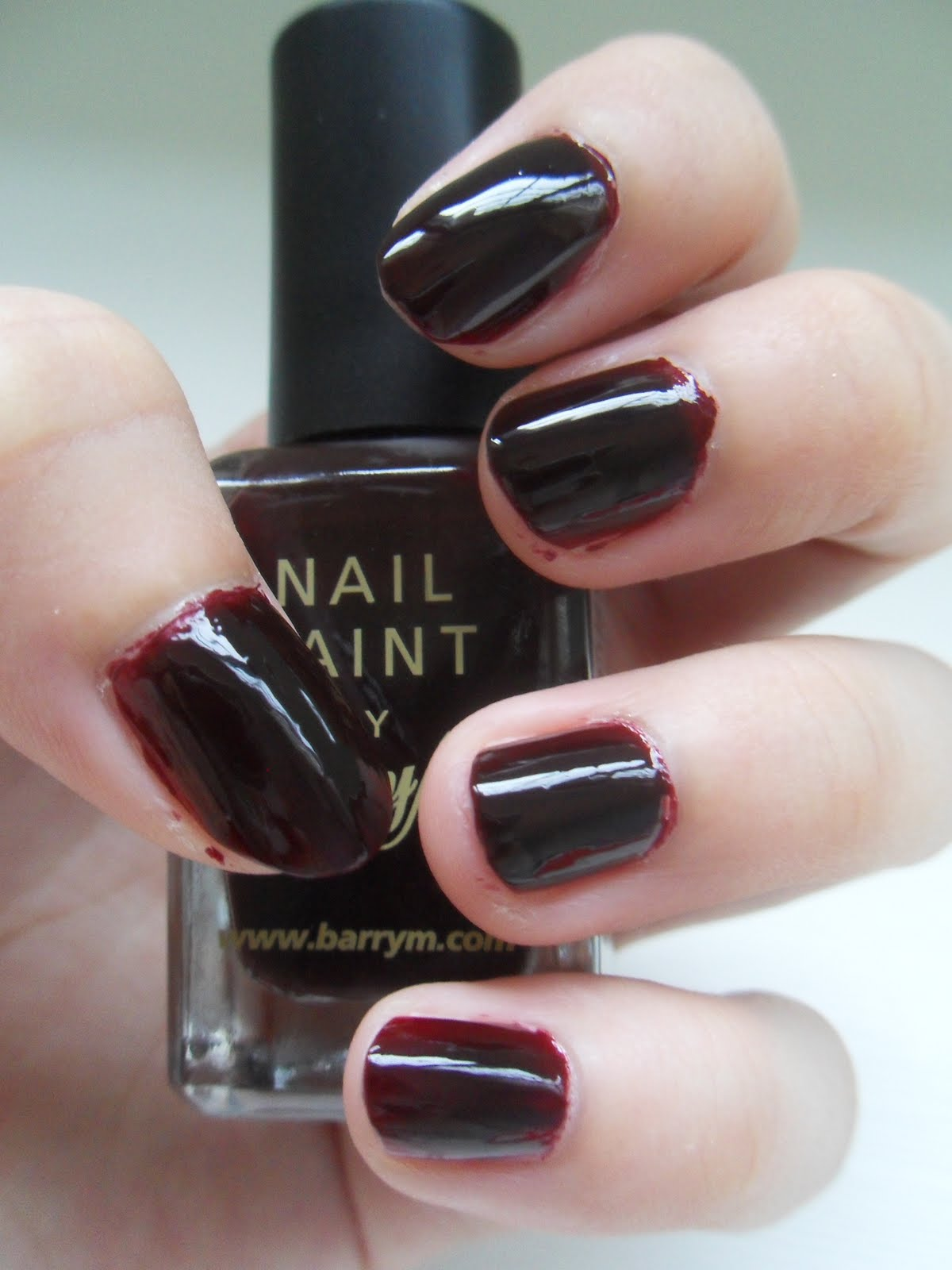 NAILS: Barry M\'s Nail Paint 115, Red Black | xoxo, charlene