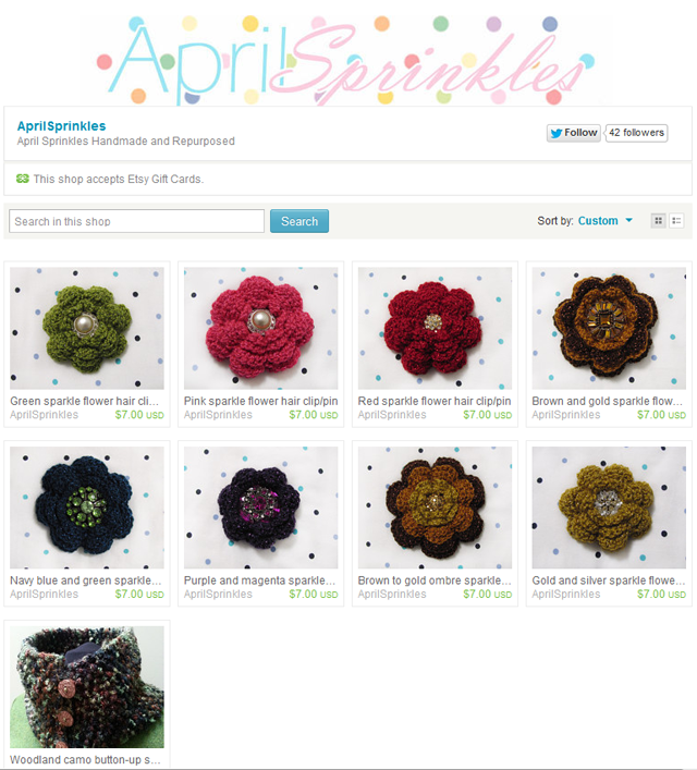 April Sprinkles Etsy