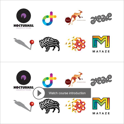 أجمل دورة تصميم شعارات باليستريتور 2015