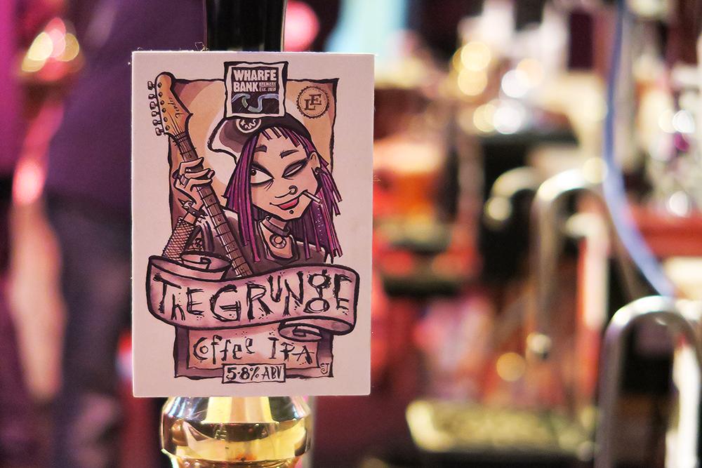 Wharfe Bank The Grunge Coffee IPA Beertown Malton March 2015 at Milton Rooms
