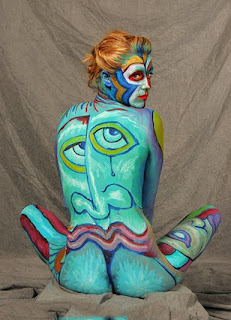 Artistic Female Body Painting
