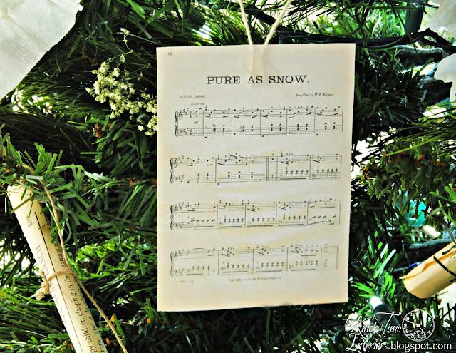 DIY Christmas music printables for Christmas tree ornaments - KnickofTime.net