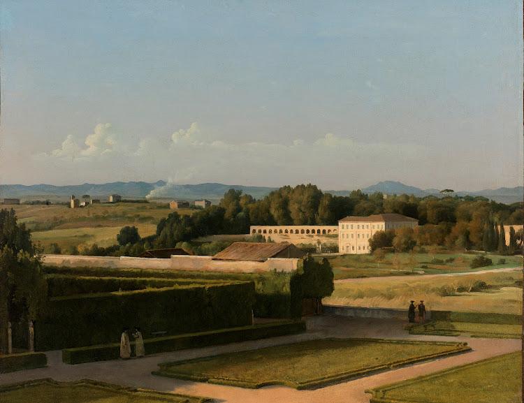 Michel Martin Drolling - Gezicht op de tuinen van Villa Medici