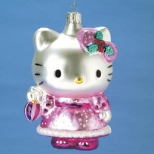 Hello Kitty Christmas glass hanging ornament for Christmas tree decoration