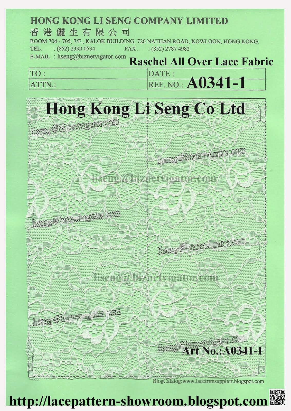 "Raschel All Over Lace Fabric Wholesaler and Supplier - "" Hong Kong Li Seng Co Ltd """